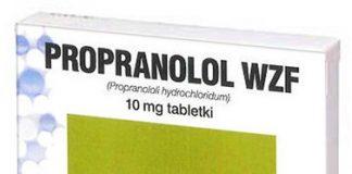 Propranolol WZF ulotka
